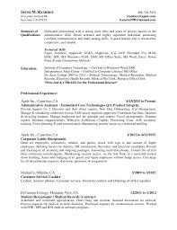 Apple Resume. IRENE M. RAMIREZ 408-718-3434 43 Lester Avenue #6 iramirez@  ...