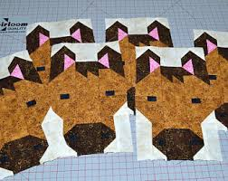 Horse Quilt Pattern Cool Quilt Block Pattern Etsy