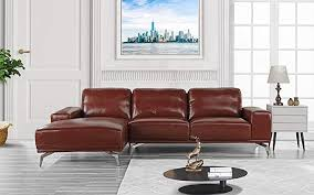 leather sectional sofa l shape couch