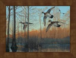 Sold and shipped by big dot of happiness. Large Early Morning Wood Ducks Framed Canvas Art Print Wall Art Wall Decor Wild Wings