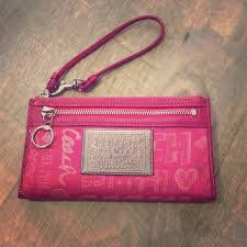Coach Poppy large wristlet wallet