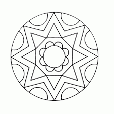 Kleurplaat Mandala Eenvoudig Kleurplaat Voor Kinderen