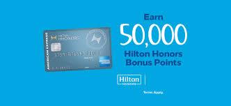 earn 50 000 hilton honors bonus points