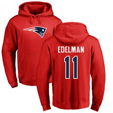 Julian Number Pullover England Name Patriots New amp; Line Red Logo Pro Men's Edelman Hoodie