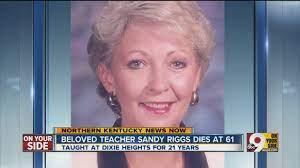 Beloved teacher Sandy Riggs dies at 61 - YouTube