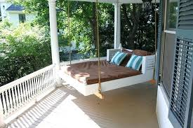 outdoor swing bed swinging beds ideas to enjoy floating in mid plans outdoor swing bed