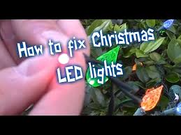 to fix led christmas lights