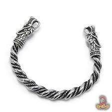 amazon bavipower handcrafted wolf heads bangle adjule snless steel norse scandinavian bracelet authentic viking jewelry jewelry