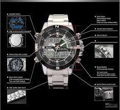 men engaging watches men luxury brand weide analog digital glamorous mens digital steel sport wrist watch black dial shark lcd date petrol analog for menblack