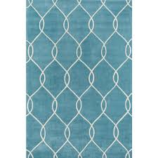 momeni bliss teal 5 ft x 8 ft indoor area rug