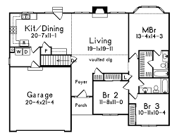 floor plan of a one story house. Ranch House Plan First Floor - 058D-0016 | Plans And More Of A One Story I