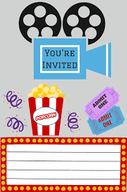 Movie Night Invitations Free Printable Printables Printable Movie Night Invite 1