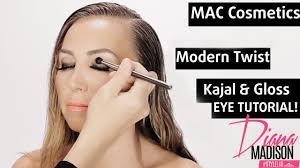 quick and easy smokey eyes makeup tutorial w mac cosmetics modern twist kajal and eye gloss
