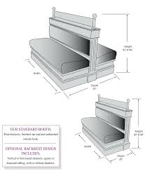 bench seat height. Bench Seat Height Rendering Of Seating With Backrest And Depth P