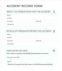 Student Incident Report Sheet Template Example Safety Form Document