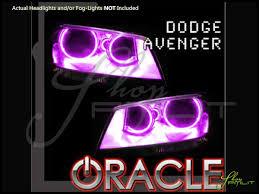 2008 Dodge Avenger Fog Light Bulb Oracle 08 14 Dodge Avenger Led Colorshift Halo Rings Head Fog Bulbs