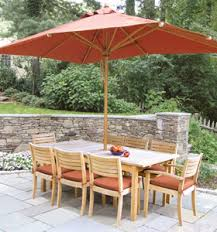 At Set 0020 Teak Stacking Dining Set With Square Umbrella Teka