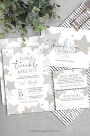 Stars Invitation Template Moon And Stars Baby Shower Fresh Star And Moon Template