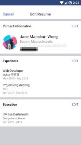 Linkedin Resume Facebook Tests CVresume Feature To Take On LinkedIn Business Insider 19