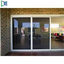 interior exterior aluminium balcony sliding door with tempered laminated safety glass