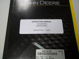 John Deere 750 Series Grain Drill Omn200120 K4 Operators
