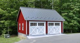 single car garage doors. Economical Two Car Garage In PA Single Doors