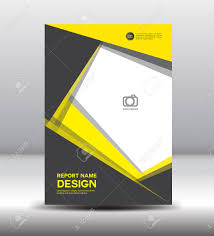 Membership Booklet Template Yellow Black Cover Design Cover Annual Report Brochure Flyer