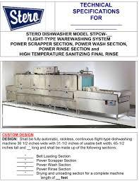 product manuals stero Stero Dishwasher Company at Stero Dishwasher Wiring Diagram