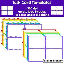 Flashcard Template Word New Free Task Cards Templates Classroom ...