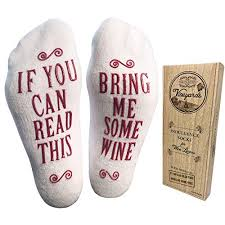 luxury bed cotton bring me some wine socks perfect hostess or housewarming gift