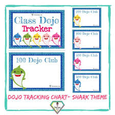 Teacher Resource Baby Shark Theme Dojo Tracking Charts