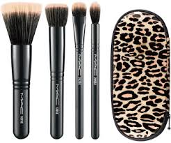 sets which are sold together with a leopard printed pouch two lip sets and three eye sets all of which are sold with a leopard printed makeup bag