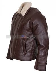 men choco brown b3 er fur lined leather jacket
