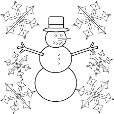 Snowflake Coloring Pages Snowman With Snowflakes Coloring Page ...