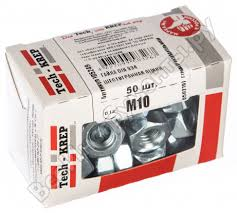 <b>Шестигранная гайка DIN 934</b> оцинкованная <b>М10</b>, 50шт - коробка ...
