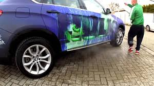 Heat Activated Paint Bmw X6 Hulk Rene Turrek Youtube