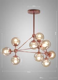 Großhandel Glaskugel Kronleuchter Moderne Nordic Leuchte Lustre Wohnzimmer Licht Rose Gold Körper Glas Kronleuchter Led Von Lampworld 62684 Auf