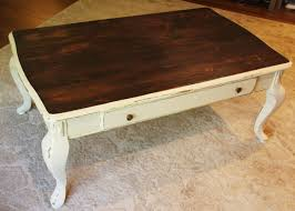 natural wood top coffee table refinishing wood using chalk paint queen ann coffee table with white
