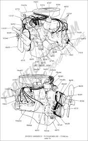 ford truck technical drawings and schematics section e engine engine assembly 8 cylinder 302 typical