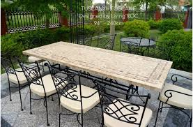 Image Rattan Outdoor Stone Dining Table Top Italian Patio Mosaic Tuscany 78 Livingroc 78