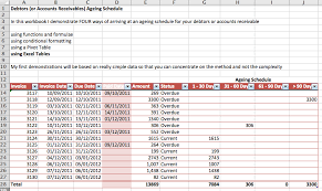 Aged Accounts Receivable Debtors Accounts Receivable Ageing Schedule Video Excel With