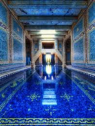 The Azure Blue Indoor Pool at Hearst Castle pics