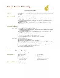 Objective Accounting Resume Sample For Internship Entry Level