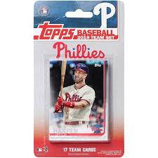 Size Of A Baseball Card Philadelphia Phillies 2019 Team Card Set No Size