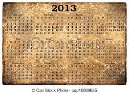 Monthly Calendar 2013 Monthly Calendar 2013 On Old Grunge Background