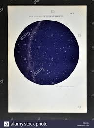 1894 Muller Astronomy Sky Chart Of The Northern Hemisphere