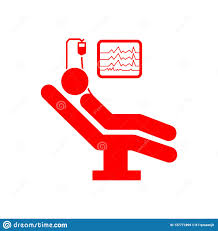 Red Checking Patient On Bed Bed Patient Heartbeat Checking Red Icon