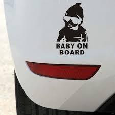 sdwow autocollant de voiture fraîche bébé à bord autocollant de voiture style moto autocollant vinyle deca