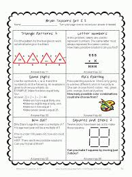 Math Brain Teasers Worksheets For High School - Binge Thinking