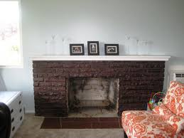 image of resurface brick fireplace with tile